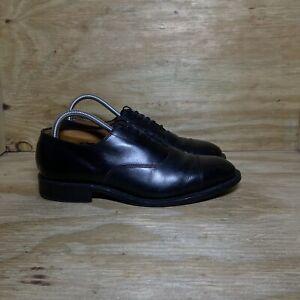 Allen Edmonds Park Avenue Cap Toe Leather Shoes USA, Men's size 7.5D, Black