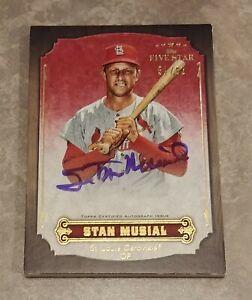 2012 Topps Five Star Stan Musial Auto #/62 St. Louis Cardinals HOF