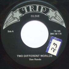 """DON RONDO Two Different Worlds / White Silver Sand 7"""" 45rpm Trip Records"""