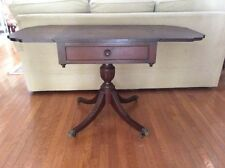 Vintage Mid Century Duncan Phyfe Style Mahogany Drop Leaf Side Table Entry