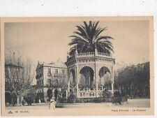 Blida Place d'Armas Le Kiosque Algeria Vintage Postcard 849a