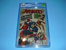 Avengers #4 CGC 3.5 w/ OW/W pages from 1964! 1st SA Captain America not CBCS