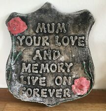 latex mould for making THIS MUM MEMORIAL SHEILD/PLAQUE