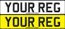 PAIR of Number Plates 3D Font Car Reg MOT Compliant & UK Registration FREE POST