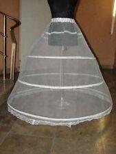 3-HOOP A Line Ball Bridal WEDDING Gown BONE FULL CRINOLINE PETTICOAT SKIRT SLIP