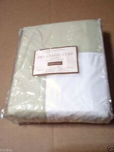 Pottery Barn Classic EASY CARE Cuff bed Duvet Cover Cal KING leaf green 400tc
