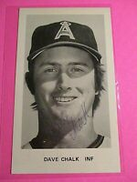 Dave Chalk California Angels Signed AUTOGRAPH AUTO Photograph