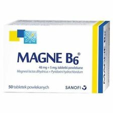 MAGNE B6 50 tablets Sanofi Magnesium 48mg + Vit B6 5mg deficiency magnez + B6