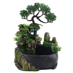 Resin Zen Rockery Waterfall Desktop Fountain Landscape Humidifier Home Decor