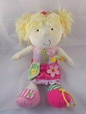 "Manhattan Toys Teach Me to Dress Plush Doll Blonde 14"""