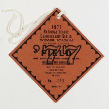 1977 NLCS Press Credentials Phillies vs Dodgers w/ Provenance