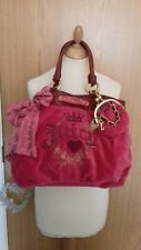 Juicy Couture Pink Velour Bag With Detachable Coin Purse