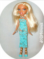 BRATZ DOLL CLOTHES Handmade Peppermint Lace DRESS & JEWELRY Fashion NO DOLL d4e