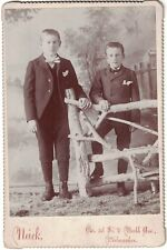 Cabinet Photo of Two Young Brothers in Nice Attire, Suits from Milwaukee, WIS.
