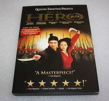 Hero (Dvd, 2004) Jet Li, Donnie Yen, Zhang Ziyi ~Martial Arts Movie ~Dvd + Case