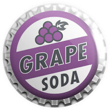Grape Soda Button Pin Badge 25mm 1 Inch Novelty Bottle Cap up