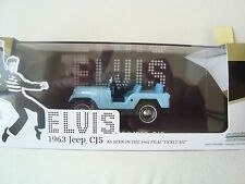 Greenlight - Jeep 1963 CJ5 Elvis film tickle me 1965 - 1/43 neuve bleue