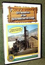 "cp043 TRAIN VIDEO DVD ""50's MEMORIES OF RIO GRANDE NARROW GAUGE"""