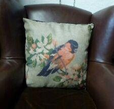 Beautiful NEW Temerity Jones Vintage style Cushion & filler British Tit birds