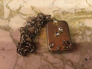Vintage Reuge Music Box On Bracelet Goldtone With Rhinestones Bracelet Untested
