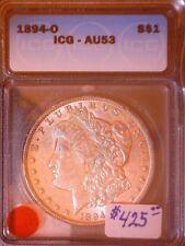 1894-O $ Morgan Silver Dollar, ICG, AU-53, SALE, BM