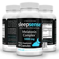 SleepSense1000mg™ Complex Natural Sleep Stress Relief Mood Balancing 60 Capsules