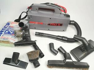 Oreck Commercial XL Pro 5 Canister Vacuum With Attachments 12 Bags Bundle