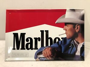 Vintage Marlboro Man Tin Metal Sign Cowboy 23.5 x 15.5 Advertising Philip Morris