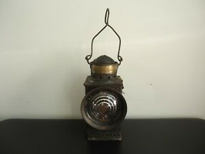Antique ARMSPEAR MFG. CO. Brass Top Railroad Kerosene Lantern