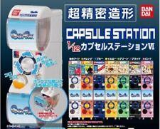 BANDAI CAPSULE STATION 1/12 Mini Vending Capsule Machine Gashapon Figure x7