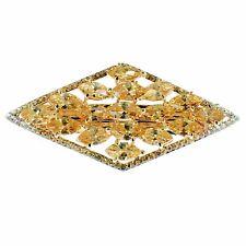 USA BARRETTE use Swarovski Crystal Hair Clip Hairpin Elegant Jeweled Brown K02