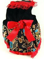 "Pet Palace® ""Paisley Pup"" Dog Dress for small dogs and puppies plus FREE LED Tag"