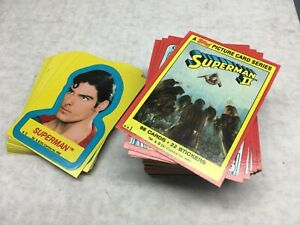 VTG Superman II 2 Movie Trading Cards Set w stickers VG-NM 1980 Topps 100ct