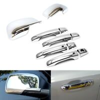 For 2011-2020 Dodge Journey Chrome Mirror Cover + 4Dr Handle Covers W/ Smartkey