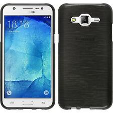 Silicone Case for Samsung Galaxy J5 (2015 - J500) brushed silver