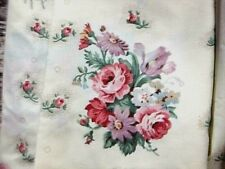 Springmaid Twin bedding 3 piece sheet set cream pink purple green floral shabby