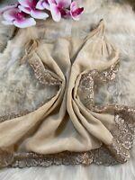 Intimissimi beige silk Camisole Top sleepwear nightwear size L