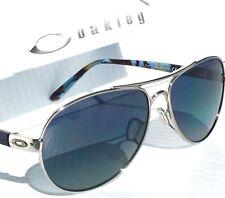 c0250709a66 NEW  Oakley TIE BREAKER Silver AVIATOR w POLARIZED Grey Women s Sunglass  4108-02