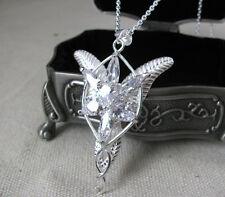 NEW 925 Silver Arwen Evenstar Necklace Pendant LOTR Movie & Jewelry Box