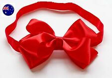 Baby Girls Child Big Red Ribbon Bow Snow white Party Xmas Hair band Headband