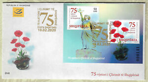 Albania Stamps FDC Year 2019 75 YEARS OF ALBANIAN LIBERATION