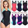 Plus Size Womens One Piece Sport Monokini Swimsuit Bikini Swimwear Bathing Suit