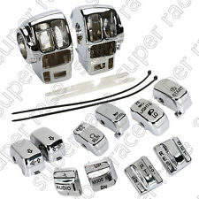 Chrome Switch Housing +10pcs Caps For Harley Electra Glide/Road Glide/Tri Glide