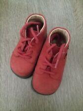 Chaussures enfant bebe en Cuir-Maintien Renforce-Rouge-T19 Excellent etat