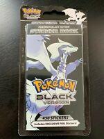 POKEMON BLACK VERSION STICKER BOOK - INCLUDES 450 STICKERS - BRAND NEW