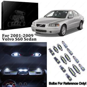 Xenon White 18pcs Interior LED Light Kit for 01-09 Volvo S60 Sedan + Free Tool