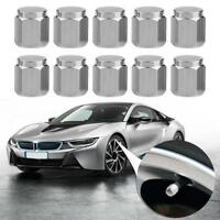 10pcs Chrome Copper Car Motorcycle Wheel Tire Tyre Valve Stem Caps & Dust Covers