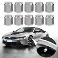 10pcs Chrome Car Motorcycle Wheel Tire Copper Air Valve Stem Caps Dust Covers