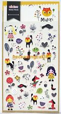 Love Cute Eaki Sticker Animal Raccoon Girl Flower Dog Bird Heart Scrapbook JAPAN