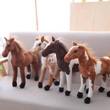 LIFELIKE Ferghana Horse Stuffed Animal Plush Cartoon Soft Stuffed Toy Doll Gifts